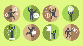 Business and eco icons stock photography
