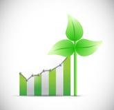 Business eco windmill graph illustration design Stock Photos