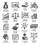Business economic icons Royalty Free Stock Photography