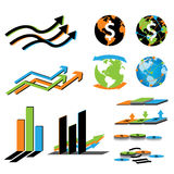 Business economy and finance Symbol Royalty Free Stock Photo