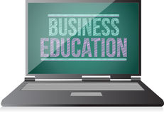 Business Education on display. laptop Royalty Free Stock Photos