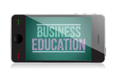 Business Education on display. Smart phone Stock Image