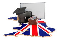 Free Business Education In The United Kingdom Concept, 3D Rendering Royalty Free Stock Image - 191337756