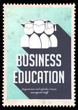 Business Education on Light Blue in Flat Design. Stock Images