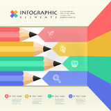 Business education pencil Infographics Stock Images