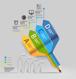 Business education pencil staircase Infographics option. Stock Photography