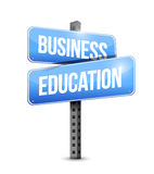 Business education road sign illustration design Stock Images