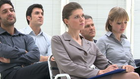 Business educational conference stock video footage