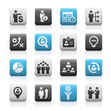 Business Efficiency Icons -- Matte Series Royalty Free Stock Images