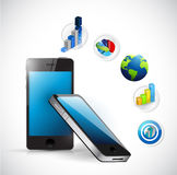 Business electronic concept illustration design Royalty Free Stock Photo
