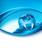 Business elegant abstract background with globe. Vector illustration royalty free illustration