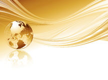 Business elegant abstract background with globe Stock Image