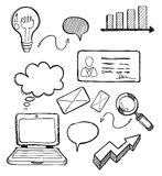 Business Element Drawing Design Flat Royalty Free Stock Photos