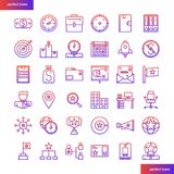 Business Element gradient icons set stock illustration