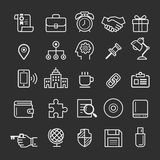 Business element icons. Royalty Free Stock Photography