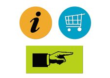 Business elements buttons Stock Image