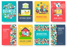 Business elements cards set. Marketing template of flyear, magazines, posters, book cover, banners, booklet. idea. Infographic concept background. Layout Stock Photos