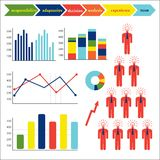 Business  elements. Business data market elements , charts diagrams and graphs Royalty Free Stock Photo