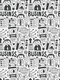Business elements doodles hand drawn line icon,eps10 Royalty Free Stock Image