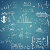 Business elements. Hand-drawn Stock Photo
