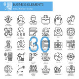 Business Elements, thin line icons set Stock Image
