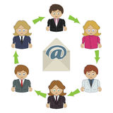 Business email Stock Image