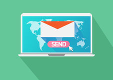 Business email marketing. Vector flat design  Business Concept  Email Marketing Stock Photo
