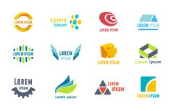 Business emblems icons Stock Image