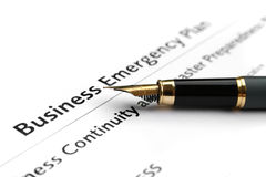 Business emergency plan Royalty Free Stock Photos
