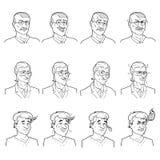 Business Emotions Avatars Set Stock Image