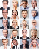 Business emotions. Royalty Free Stock Photos