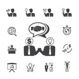 Business employment icons set. Vector icons Royalty Free Stock Images