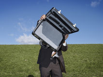 Business with empty briefcase Stock Photos