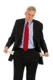 Business with empty pockets stock photography