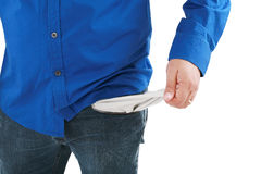 A business emptying his pockets Stock Photography