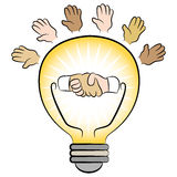 Business Energy Lightbulb Royalty Free Stock Photography