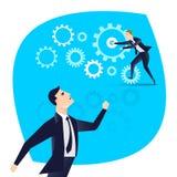 Business engine correctly identify the subordinate action.  Stock Photos