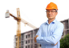 Business engineer at construction site Royalty Free Stock Photography