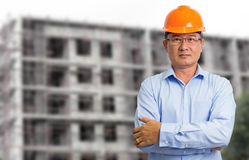 Business engineer at construction site Stock Photography