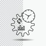 Business, engineering, management, process Line Icon on Transparent Background. Black Icon Vector Illustration royalty free illustration