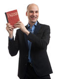 Business English concept. Man with book Stock Photo