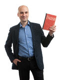 Business English concept. Man with book Royalty Free Stock Photos