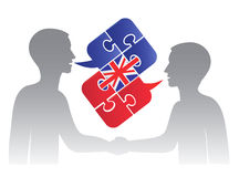 Business English dialog Royalty Free Stock Photography