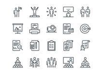 Business Ensemble d'icônes de vecteur d'ensemble Inclut comme la réunion d'affaires, poignée de main, l'accord, un sur on se réun Photographie stock