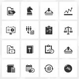 Business Enterprise Icons Stock Photos