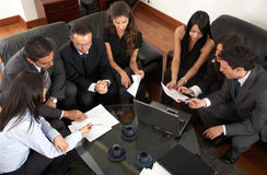 Business entrepreneurs in a meeting Stock Photography