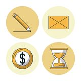 Business and Entrepreneurship. Over white background vector illustration Stock Images