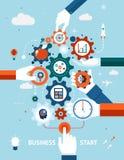 Business and entrepreneurship business start royalty free illustration