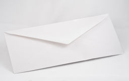 Business envelope. A shot of a business envelopde on a whir background Stock Photos