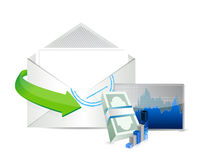 Business envelope email illustration design Royalty Free Stock Images